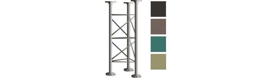 Příhradové stožáry v barvě