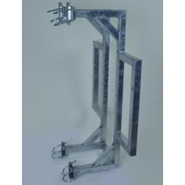 Držák příhradového stožáru boční dvojitý plošný