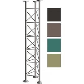 Příhradový stožár, délka 2m, stojny 48mm -  žárový zinek + barva!