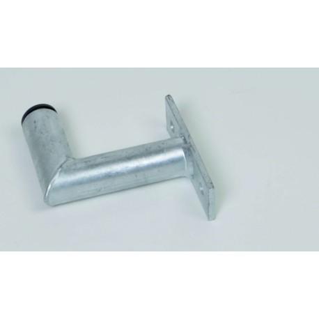 ! Akce - Držák antény s pásem  15cm - žárový zinek