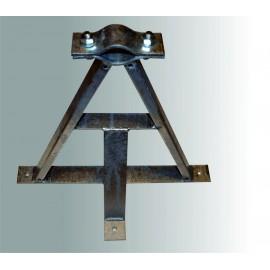 Držák stožáru pr. 40-67mm odsazený 400mm - žárový zinek