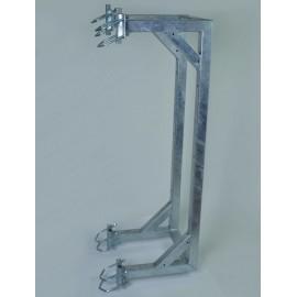 Držák příhradového stožáru boční dvojitý - silnostěnný
