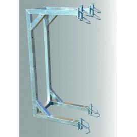 Držák příhradového stožáru boční dvojitý odsazení 600mm - silnostěnný