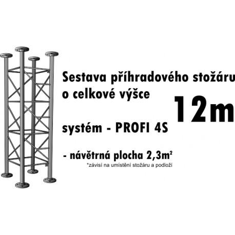 Sestava příhradového stožáru 12m