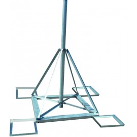 Čtyřnožka 2m - PROFI stativ s dlaždicemi - žárový zinek pr.89