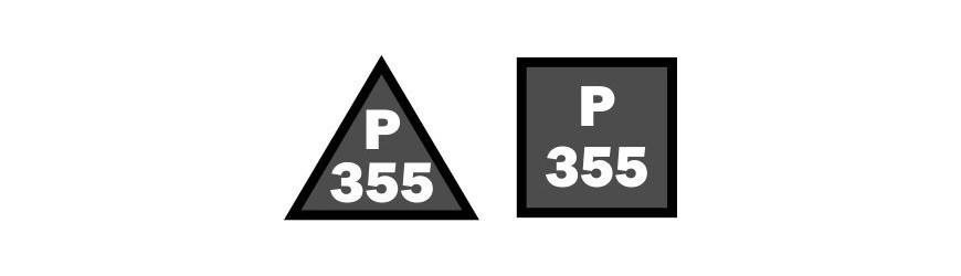 Příhradové stožáry 355mm rozteč, trojůhelníková a čtvercová základna