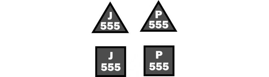 Příhradové stožáry 555mm rozteč, trojůhelníková a čtvercová základna