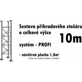 Sestava příhradového stožáru 10m