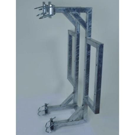 Držák příhradového stožáru boční dvojitý plošný silnostěnný
