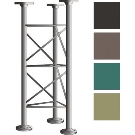 Příhradový stožár, délka 1m - žár. zinek + barva!