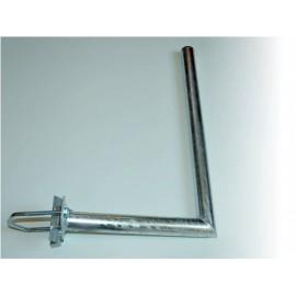 Držák 35/60cm s vinklem pro uchycení na stožár – žárový zinek