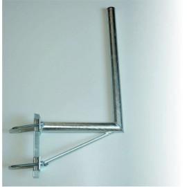 Držák 35/60cm s dvojitým uchycením na stožár – žárový zinek