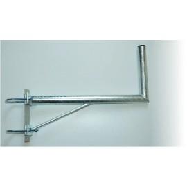 Držák 60/30cm s dvojitým uchycením na stožár – žárový zinek